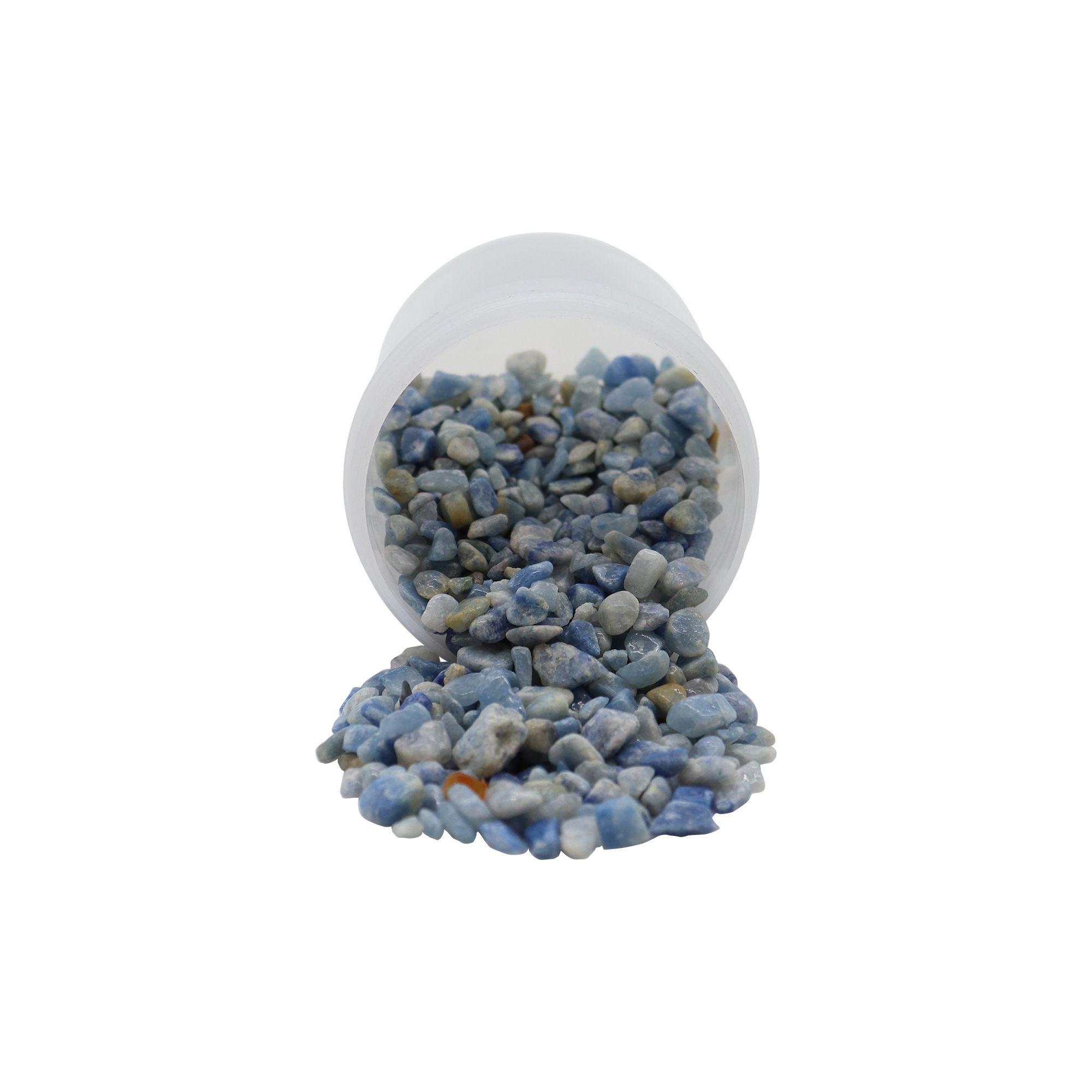 Pote de pedras quartzo azul 70g
