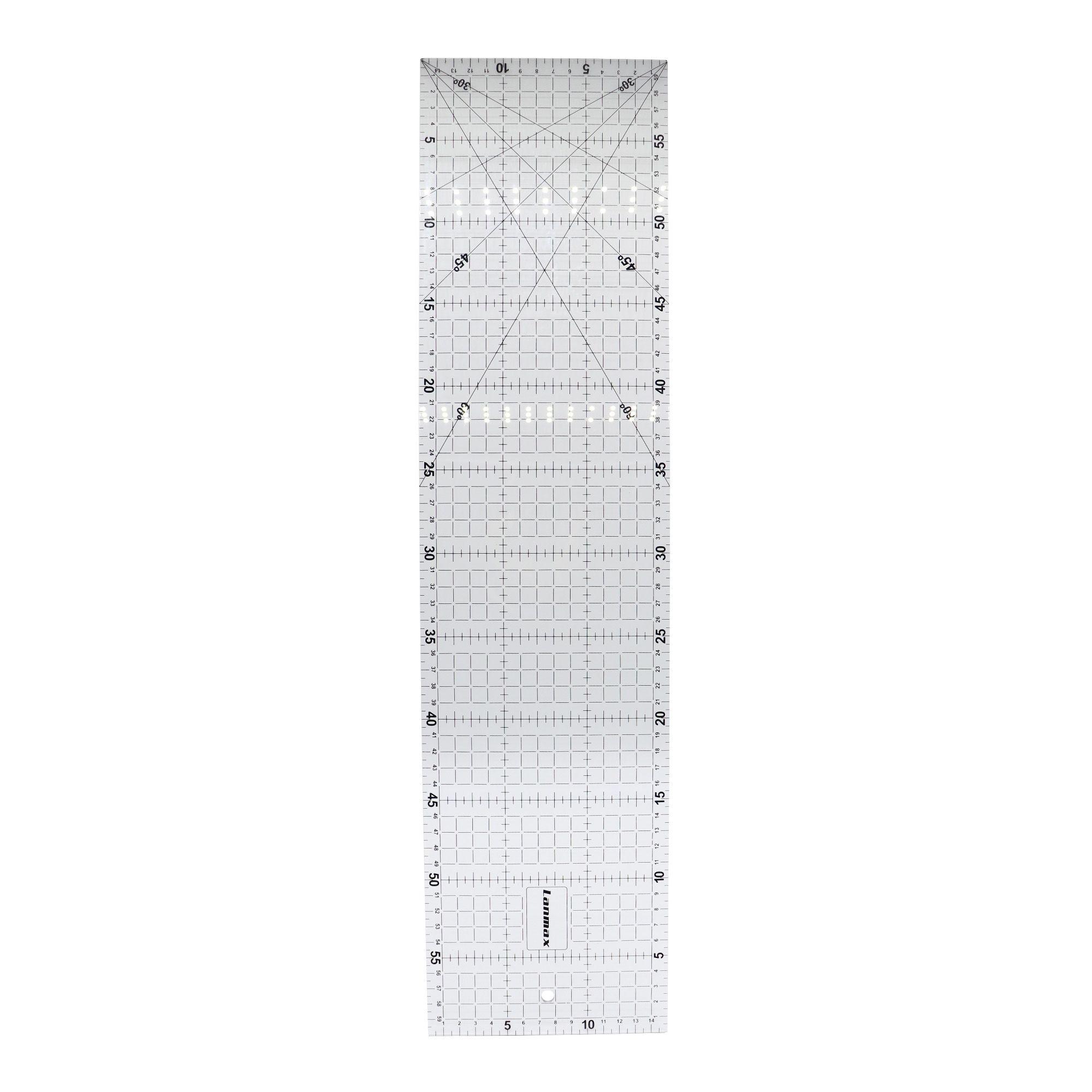 Régua acrílica para Patchwork 15x60 cm