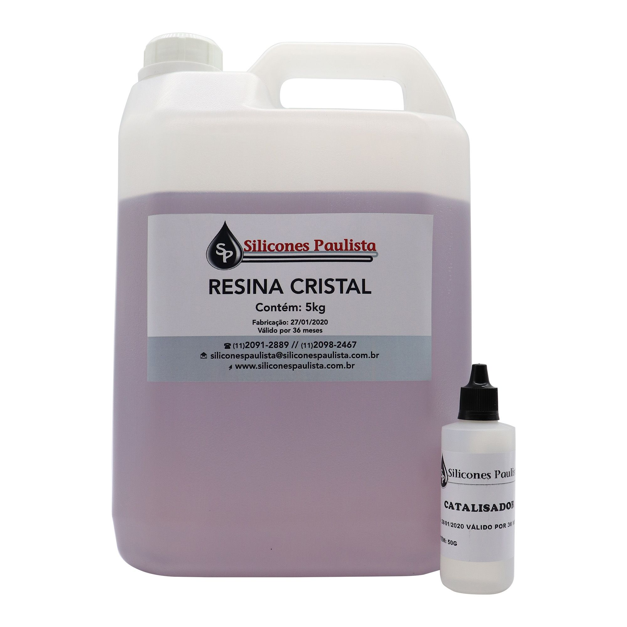 Resina Cristal (Resina 5Kg / Catalizador 50g)