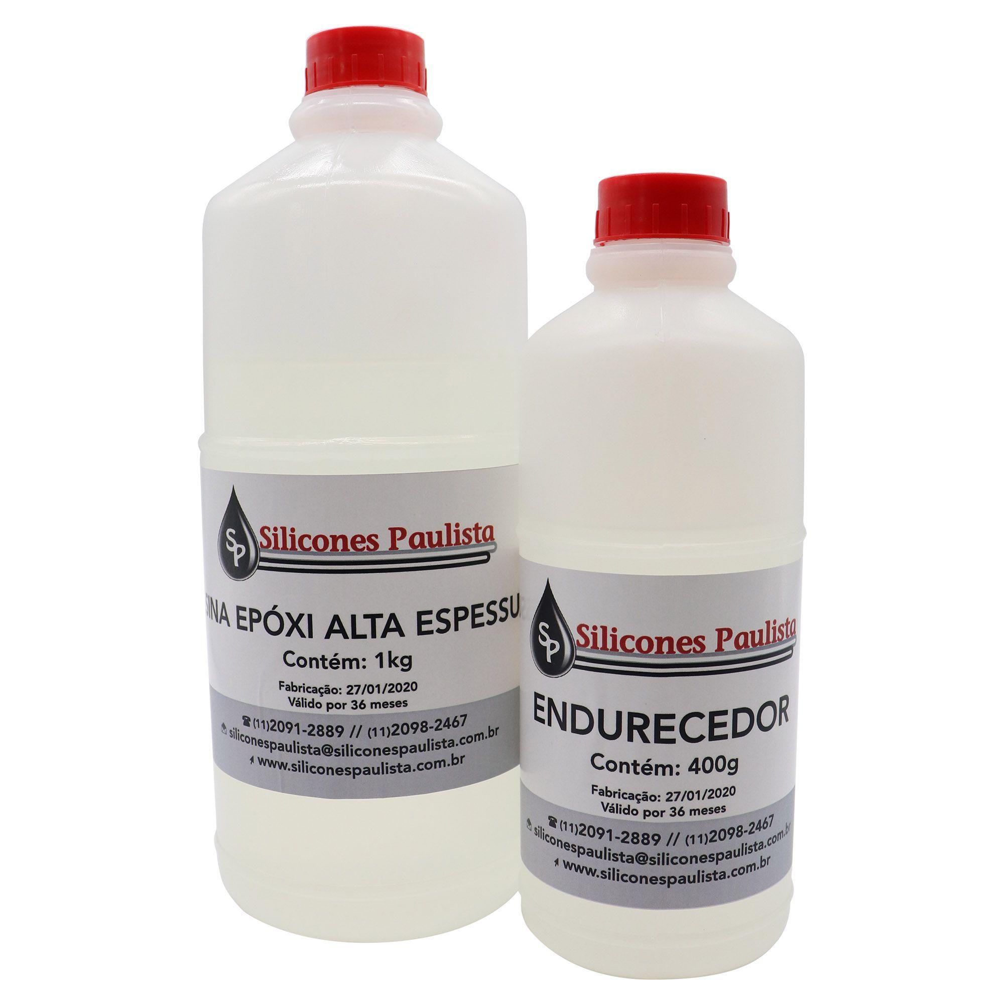 Resina Epóxi Alta espessura SP200 (Resina 1Kg / Endurecedor 400g)