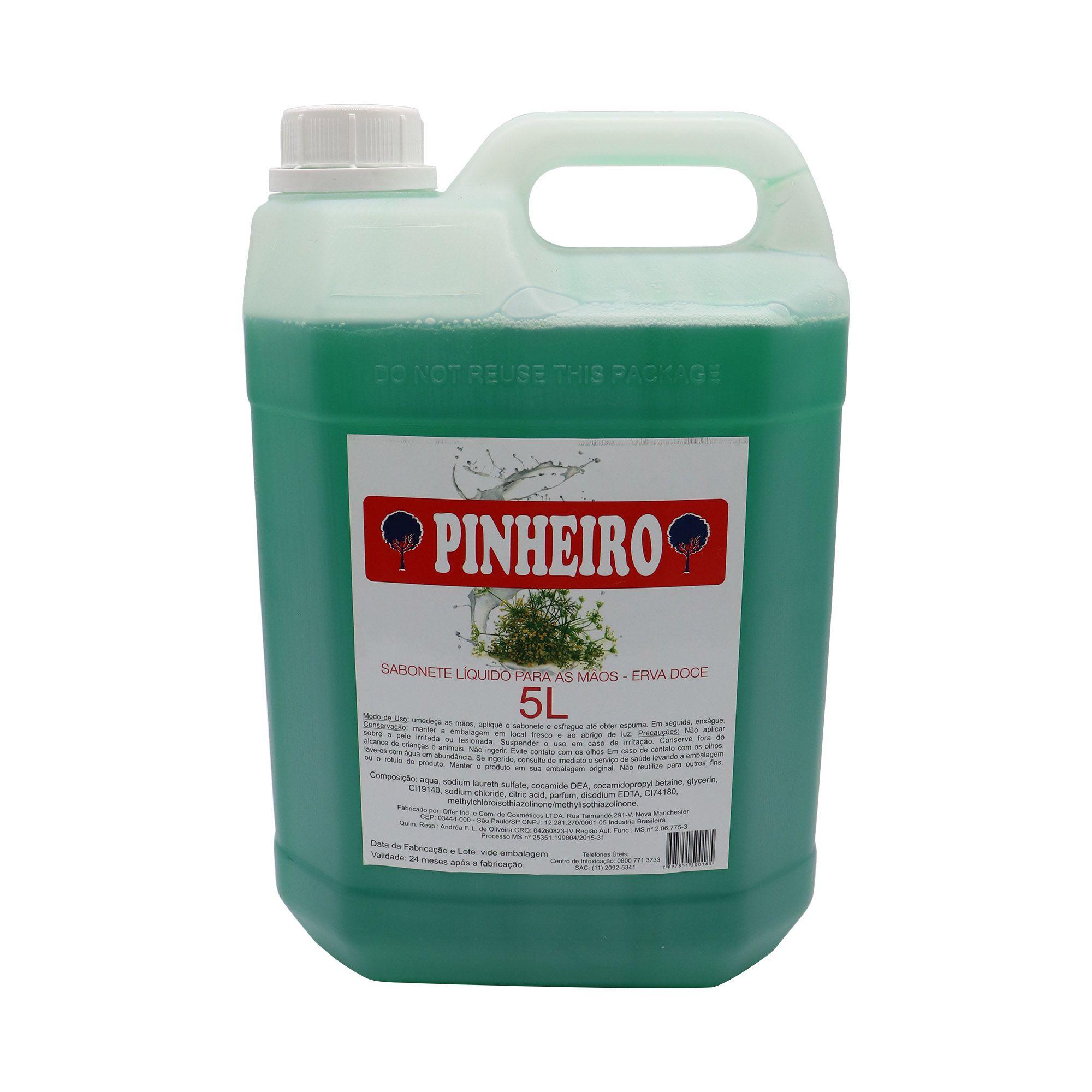 Sabonete líquido para as mãos (Erva doce) - 5L