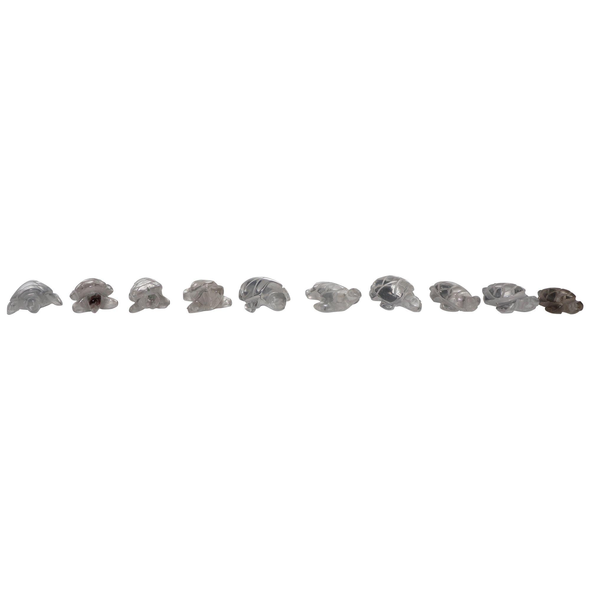 Tartaruga de Quartzo cristal 3g - Lapidado polido