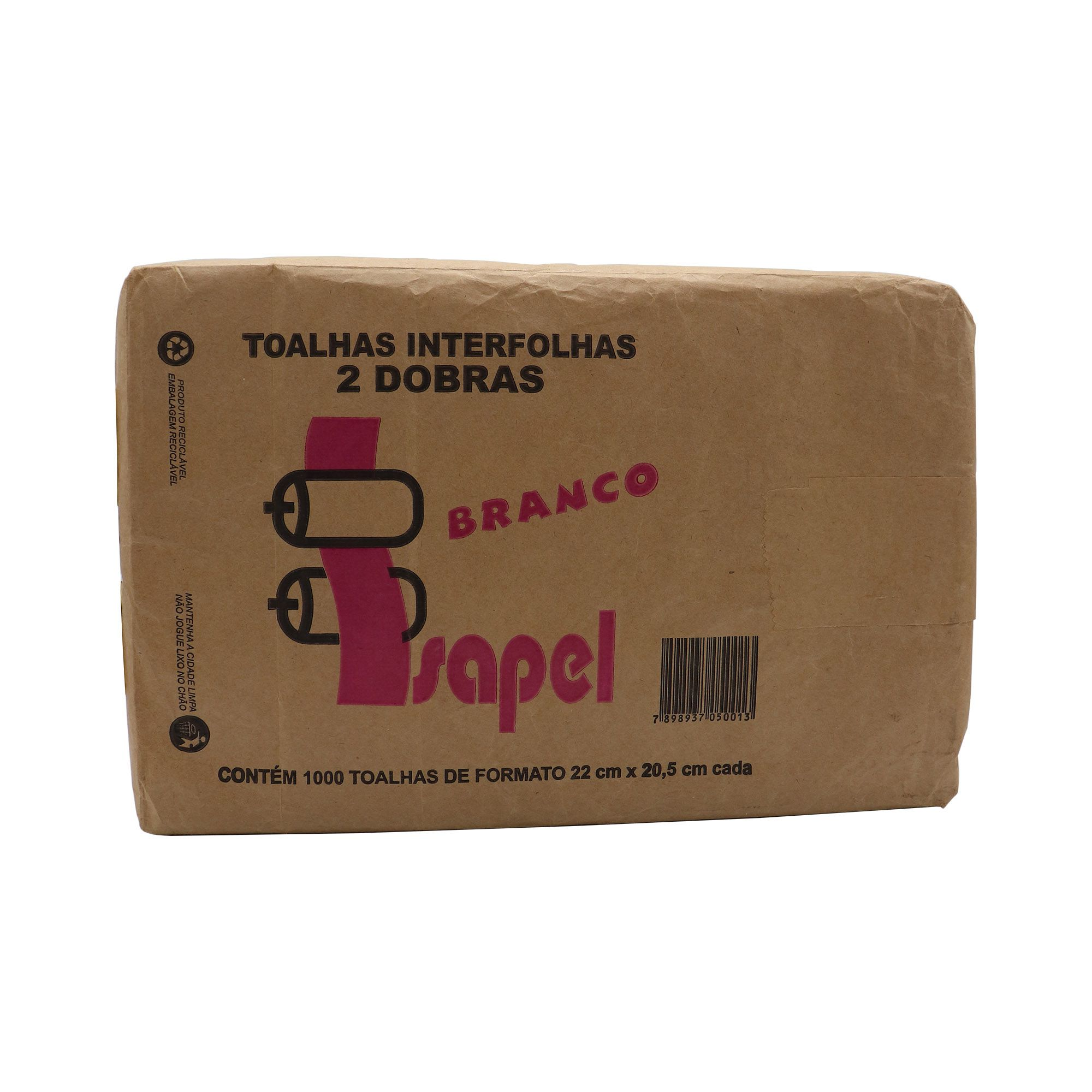 Toalha de Papel descartável com 1.000 uni.