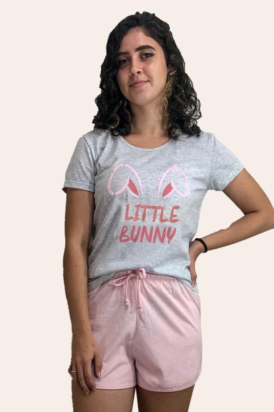 000/B - Pijama De Páscoa Para Família  - Juvenil Feminino