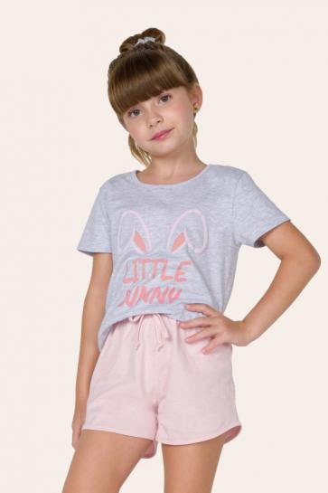 100/C - Pijama Infantil Feminino - Família Bunny