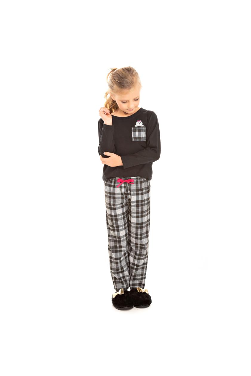 004/C - Pijama Infantil Feminino Xadrez