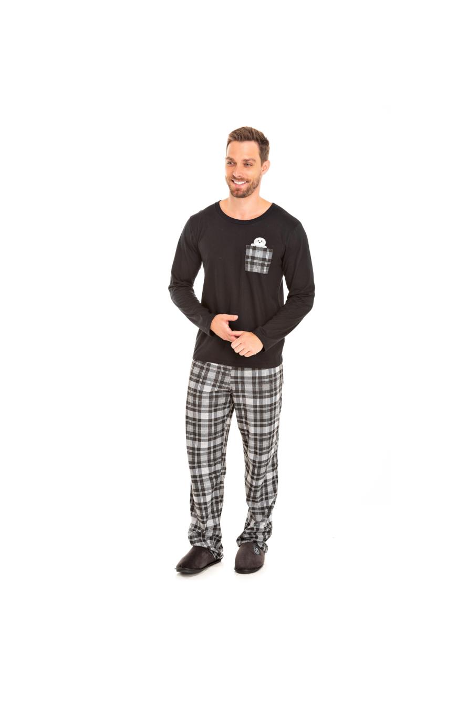 004/D - Pijama Adulto Masculino Xadrez