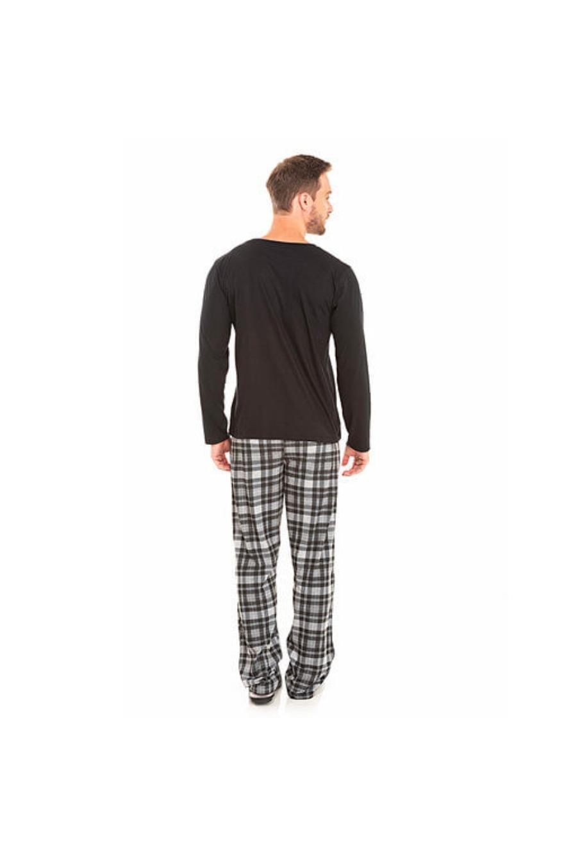 238/C - Pijama Adulto Masculino Xadrez