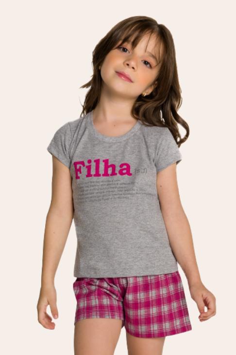 002/D - Pijama Infantil Feminino Xadrez Família Completa