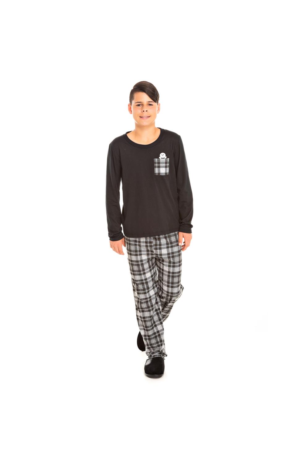 001/E - Pijama Juvenil Masculino Xadrez