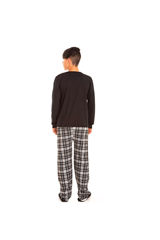 194/E  - Pijama Juvenil Masculino Xadrez
