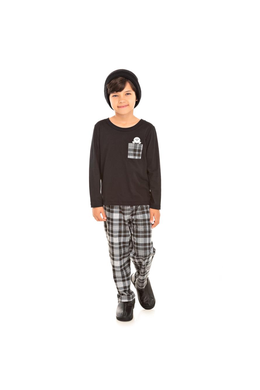 004/F - Pijama Infantil Masculino Xadrez