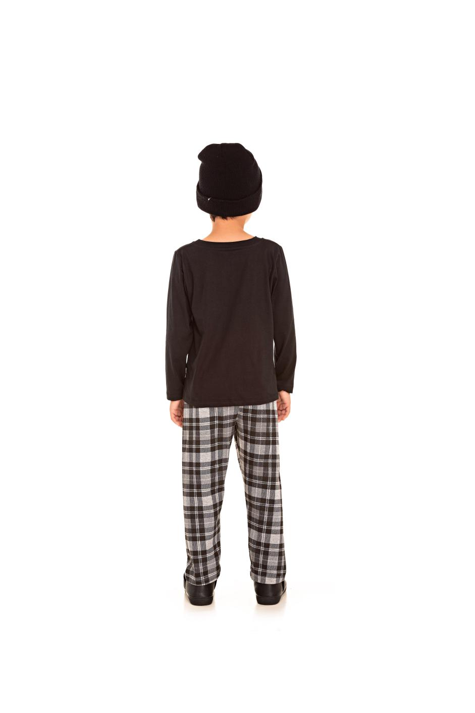 194/F - Pijama Infantil Masculino Xadrez
