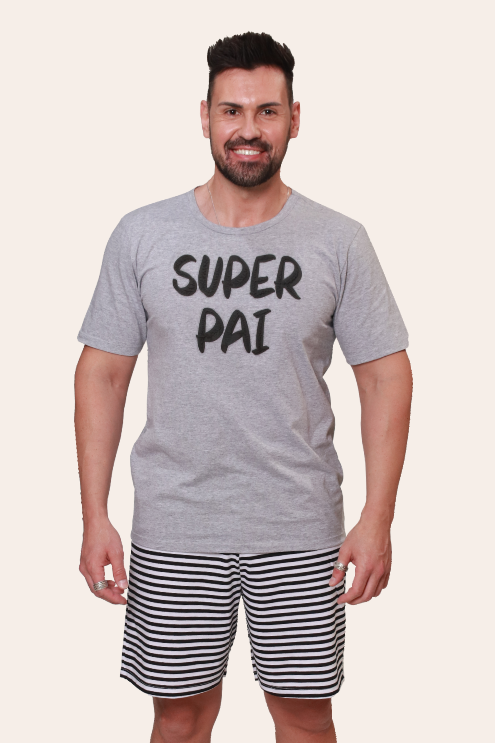 100/G - Pijama Adulto Masculino Super Pai