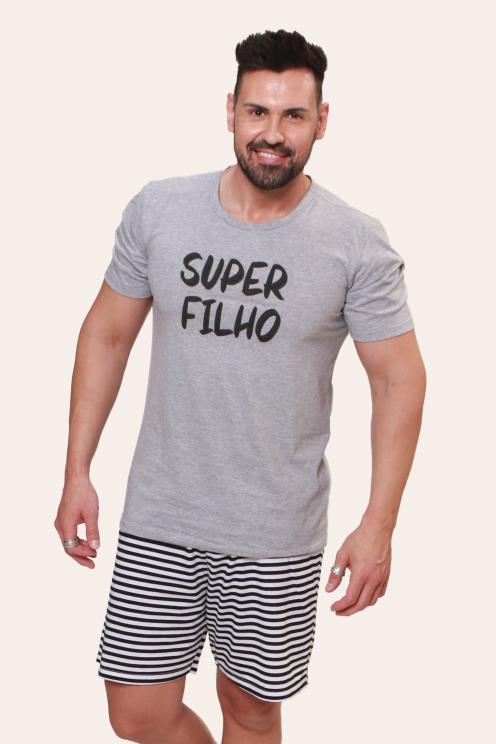 001/H - Pijama Adulto Masculino Super Filho