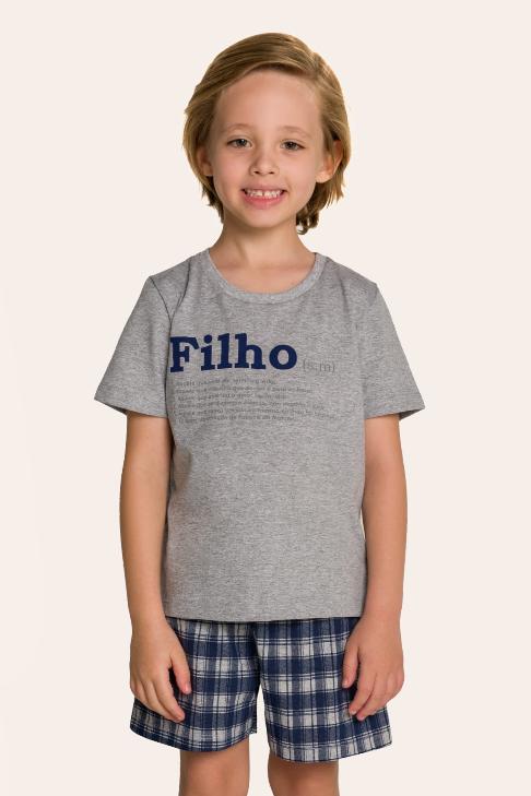 002/H - Pijama Infantil Masculino Xadrez Família Completa
