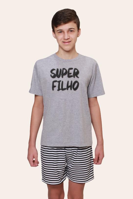 001/I  - Pijama  Juvenil Masculino Super Filho