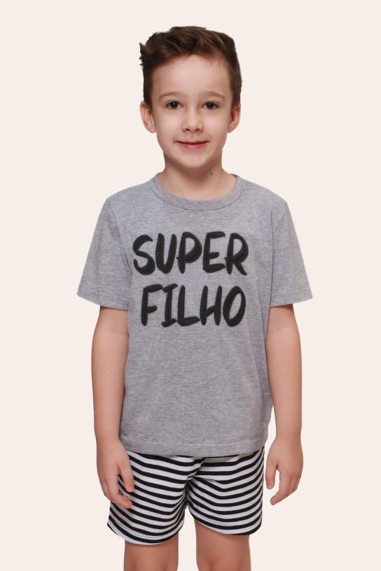 001/J - Pijama Infantil Masculino Super Filho