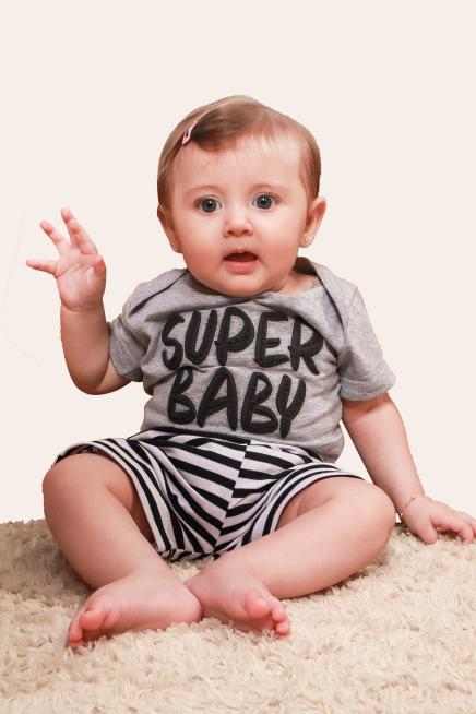 001/L - Pijama Bebê Unissex Super Baby