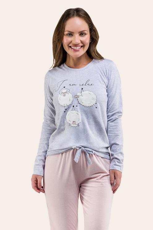 009/A - Pijama Adulto Feminino I AM RELAX