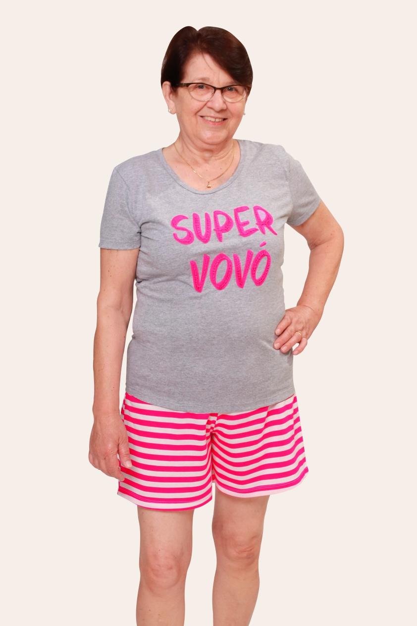 002/A - Pijama Adulto Feminino Super Vovó
