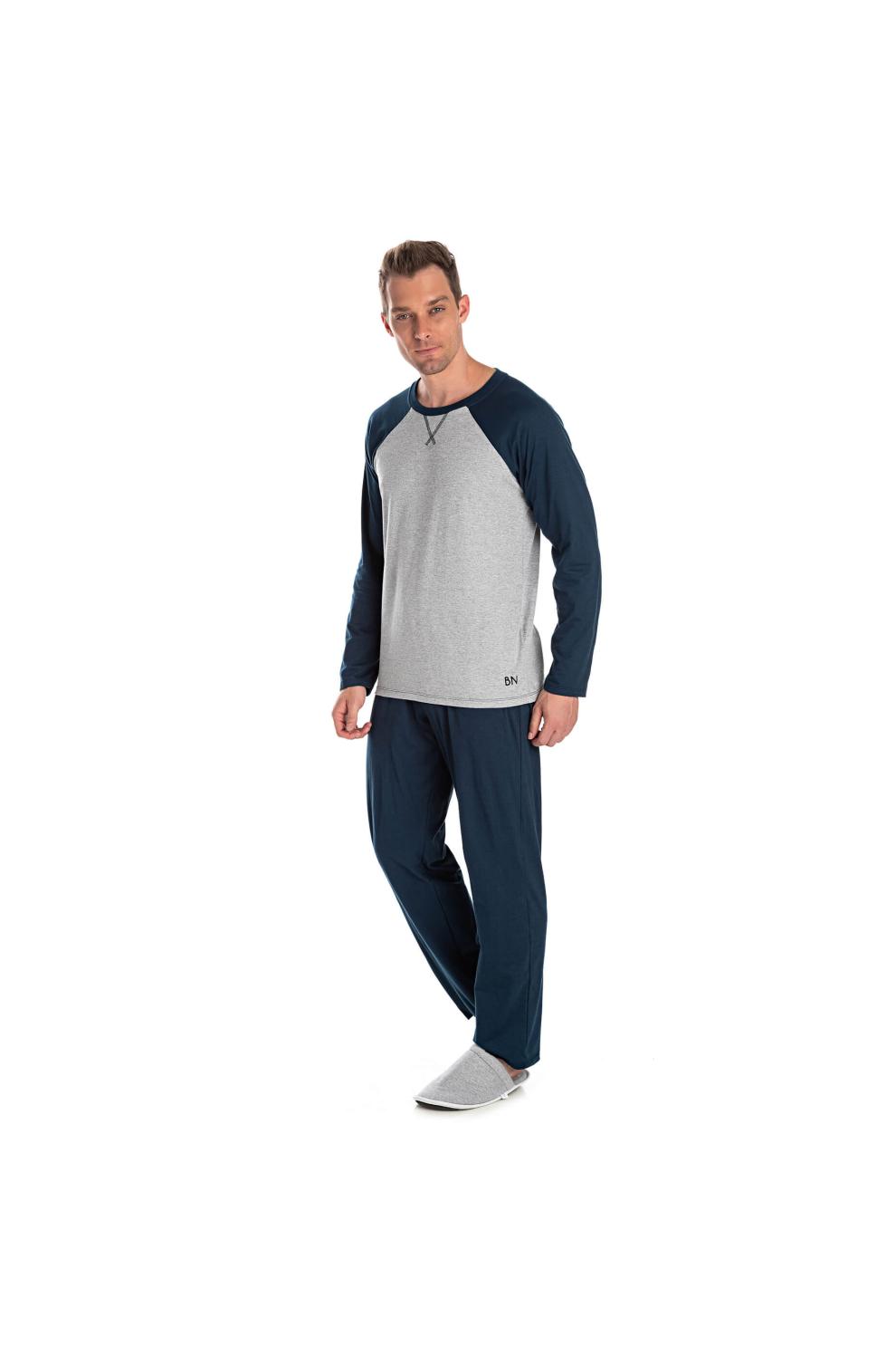019/I - Pijama Adulto Masculino com Aplique Termocolante