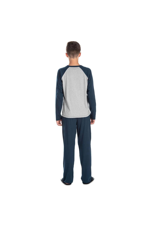 226/A - Pijama Juvenil Masculino com Aplique Termocolante