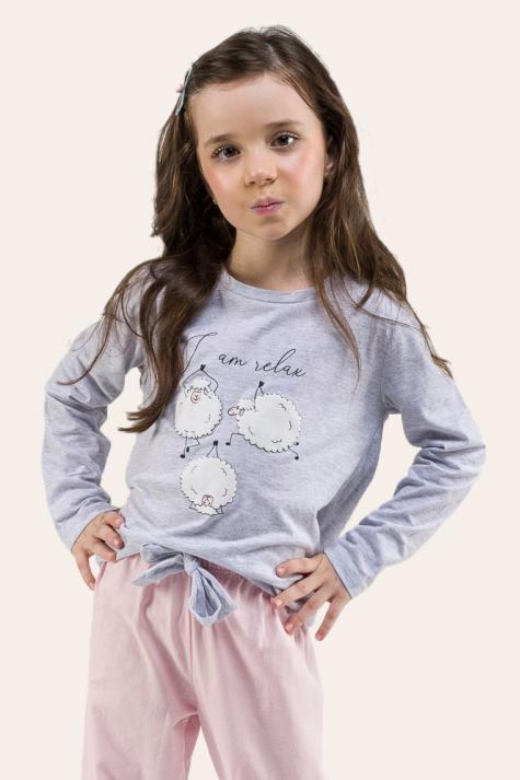 009/C - Pijama Infantil Feminino I AM RELAX