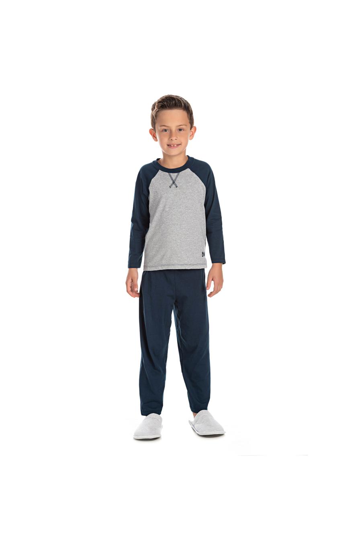 050/K - Pijama Infantil Masculino com Aplique Termocolante