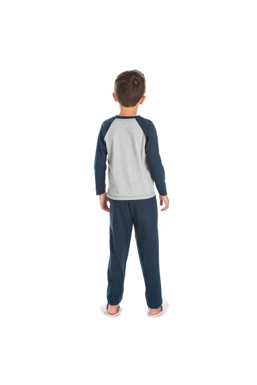217/A - Pijama Infantil Masculino com Aplique Termocolante