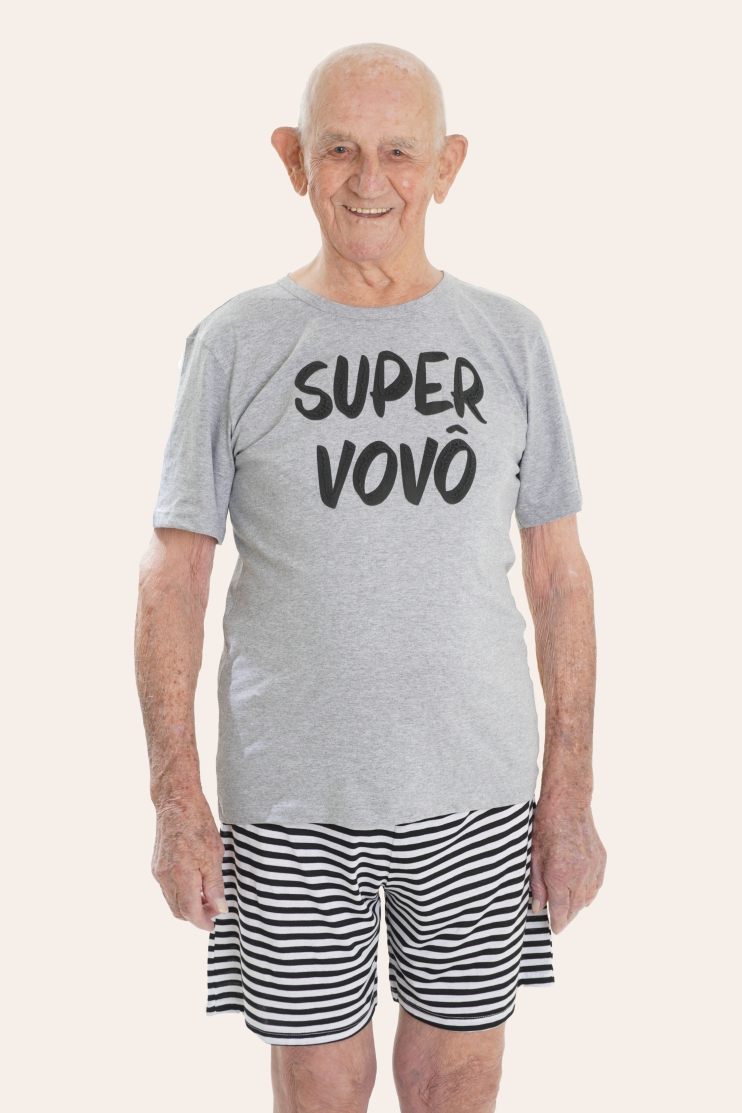 021/F - Pijama Adulto Masculino Super Vovô