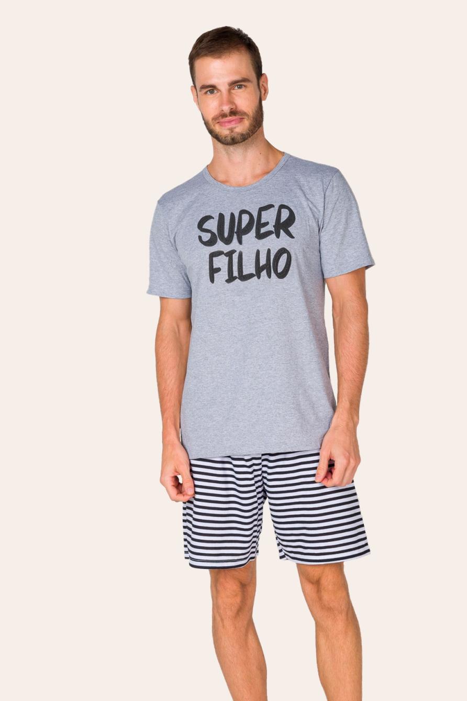 021/H - Pijama Adulto Masculino Super Filho