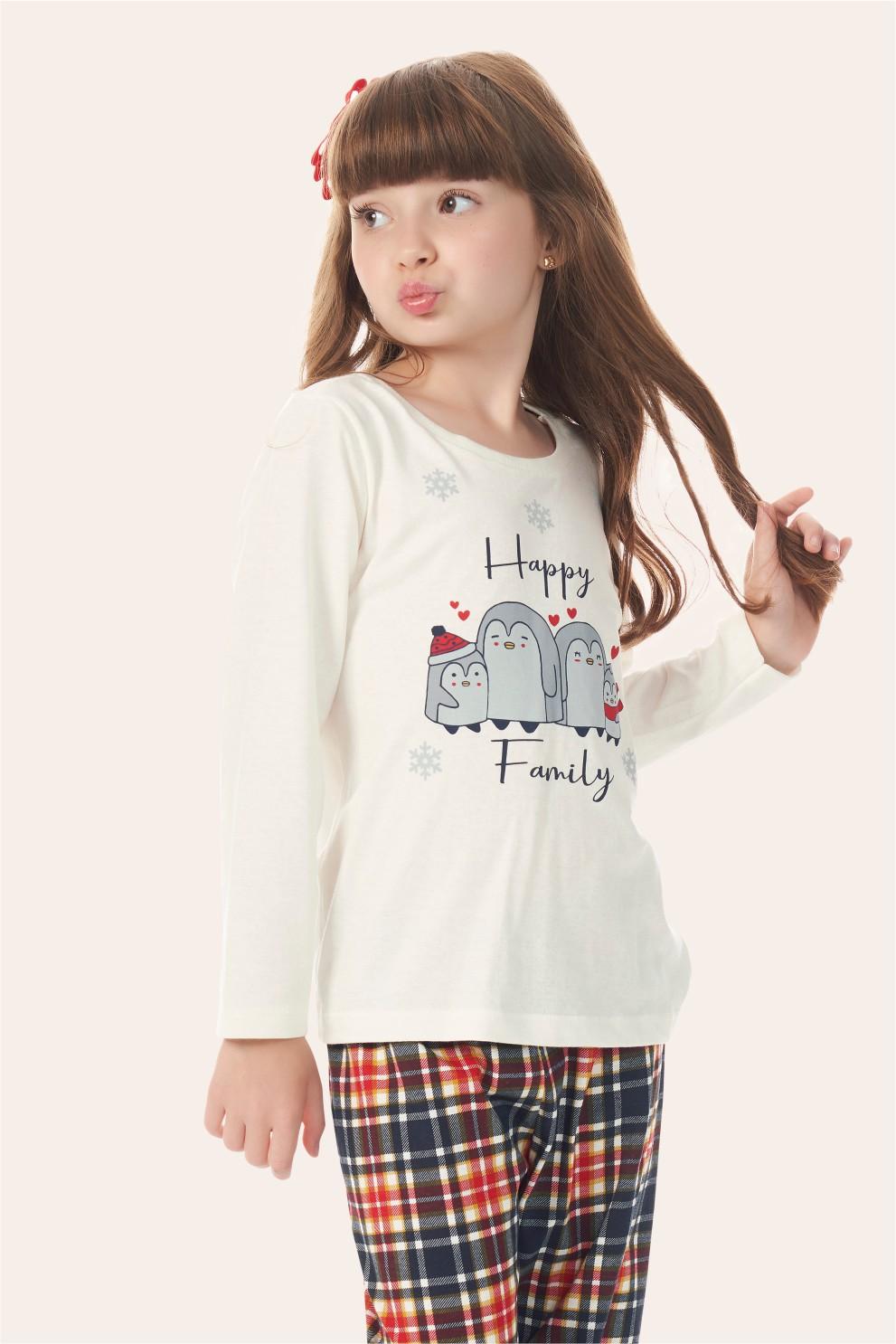002/J - Pijama Infantil Feminino Happy Family