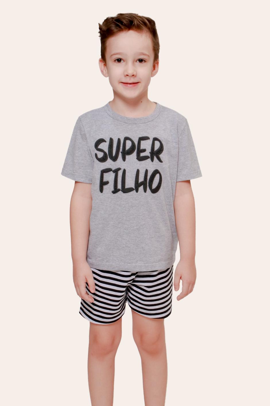 021/J - Pijama Infantil Masculino Super Filho