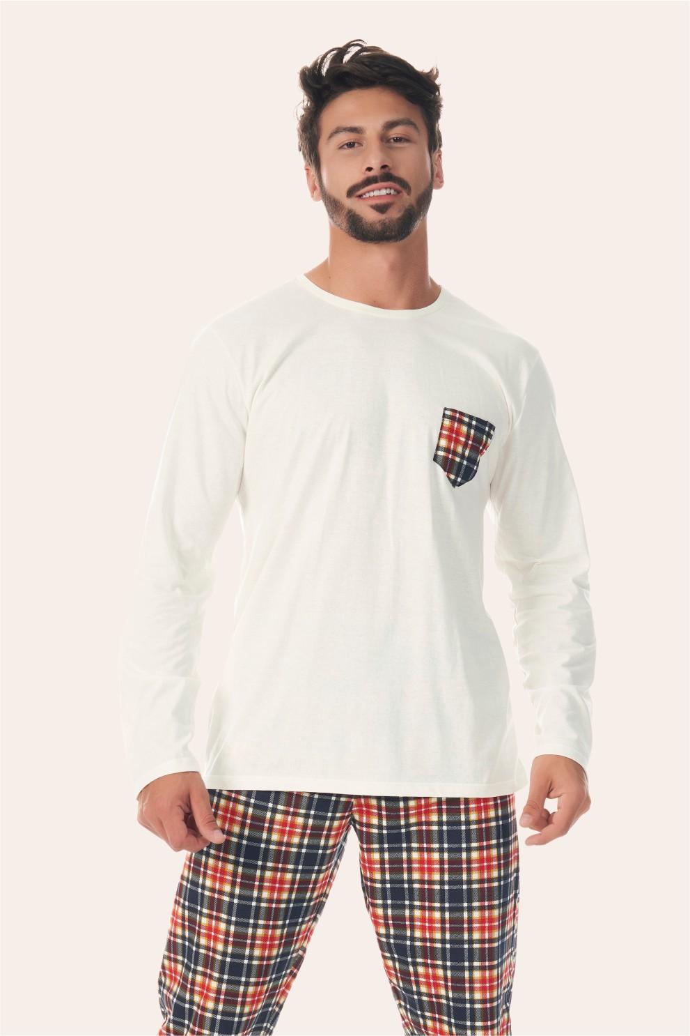 002/L - Pijama Adulto Masculino Happy Family