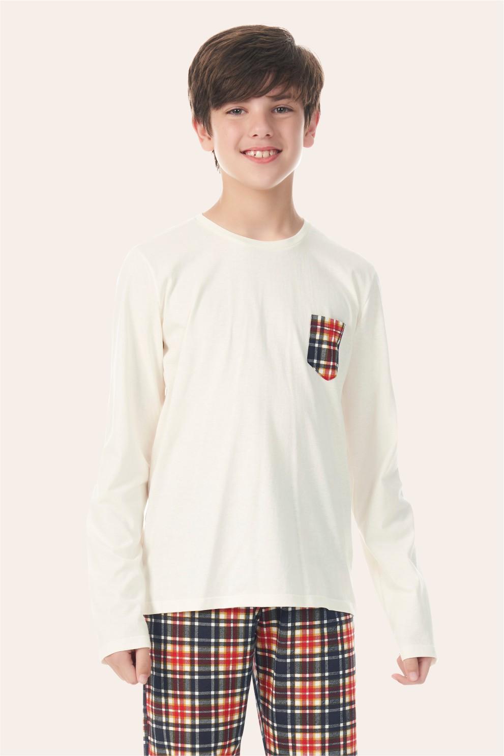 002/M - Pijama Juvenil Masculino Happy Family