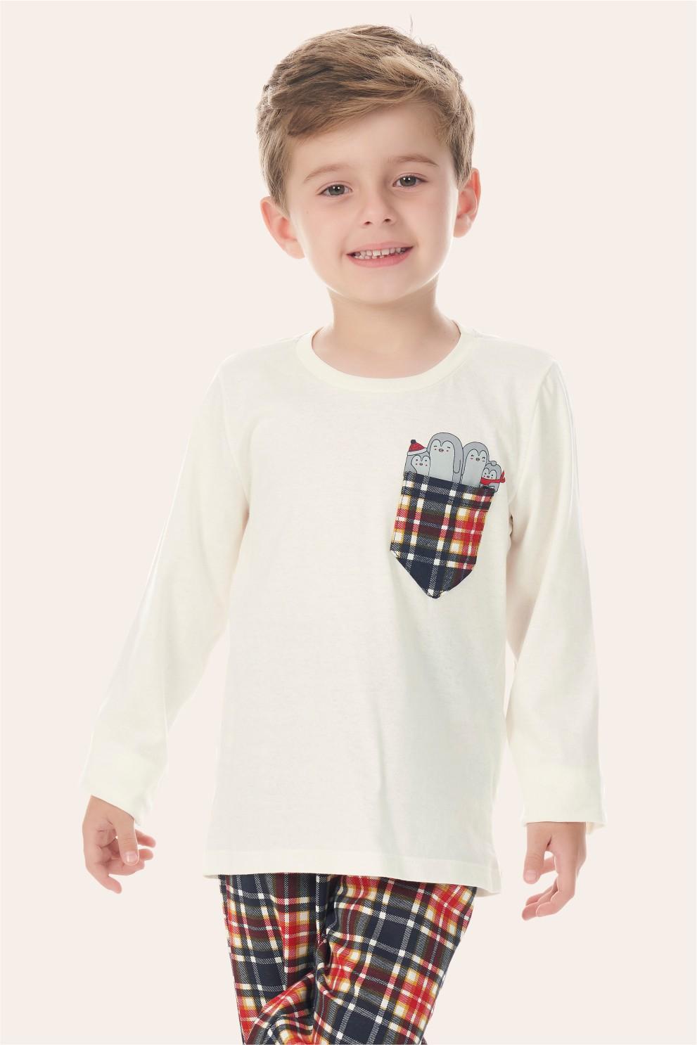 002/N - Pijama Infantil Masculino Happy Family