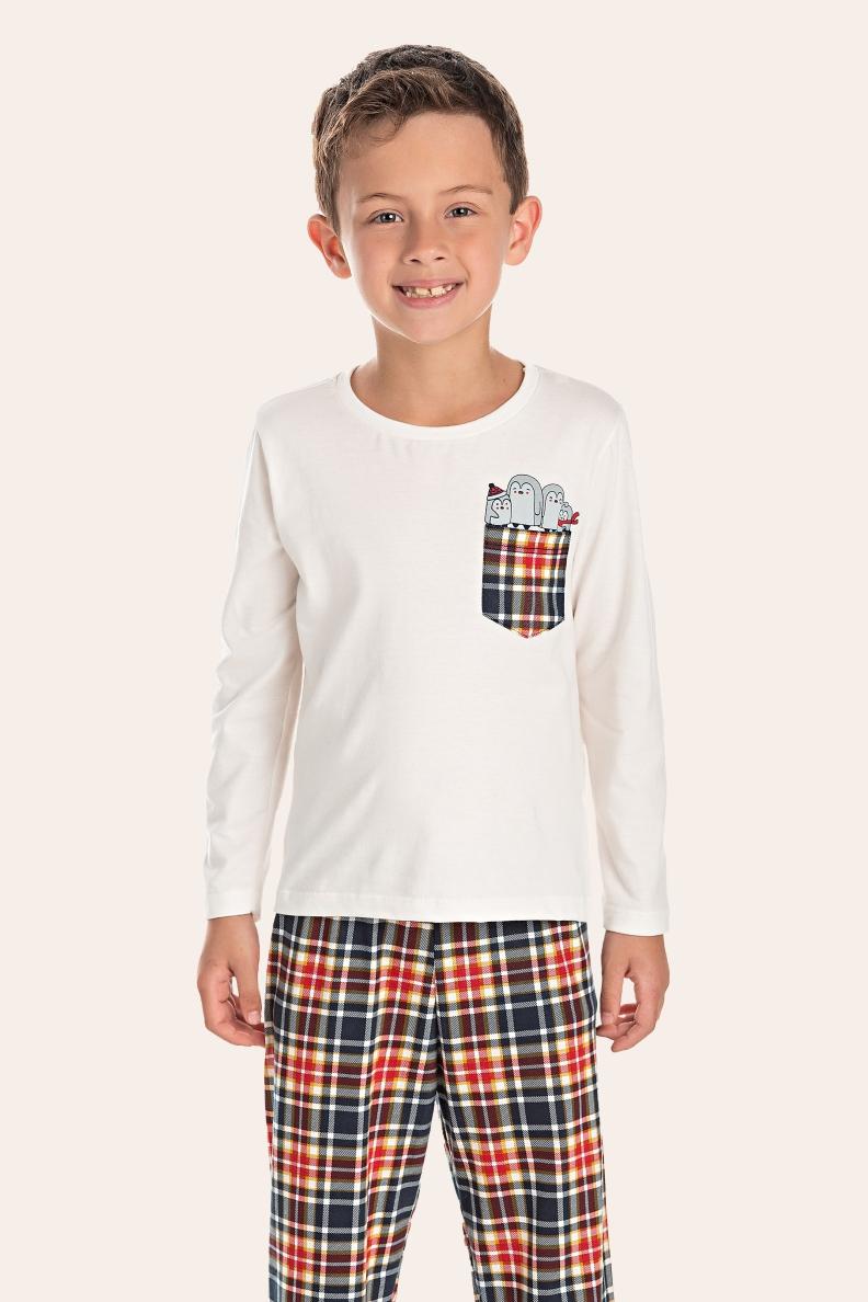 036/N - Pijama Infantil Masculino Happy Family