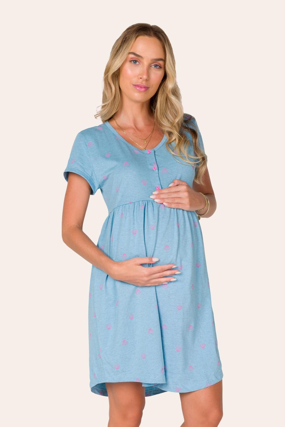003/A - Camisola Maternidade Conchinhas