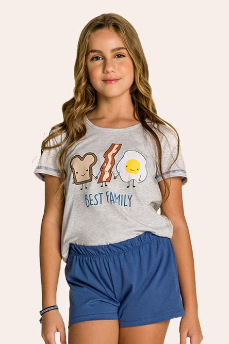 003/B - Pijama Juvenil Feminino Best Family