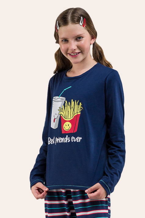 003/B - Pijama Juvenil Feminino Best Friends Ever
