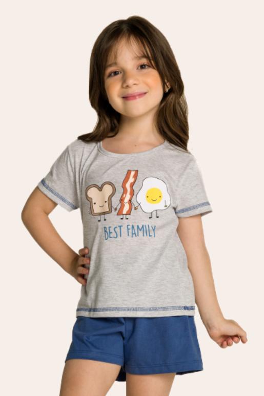 003/C - Pijama Infantil Feminino Best Family