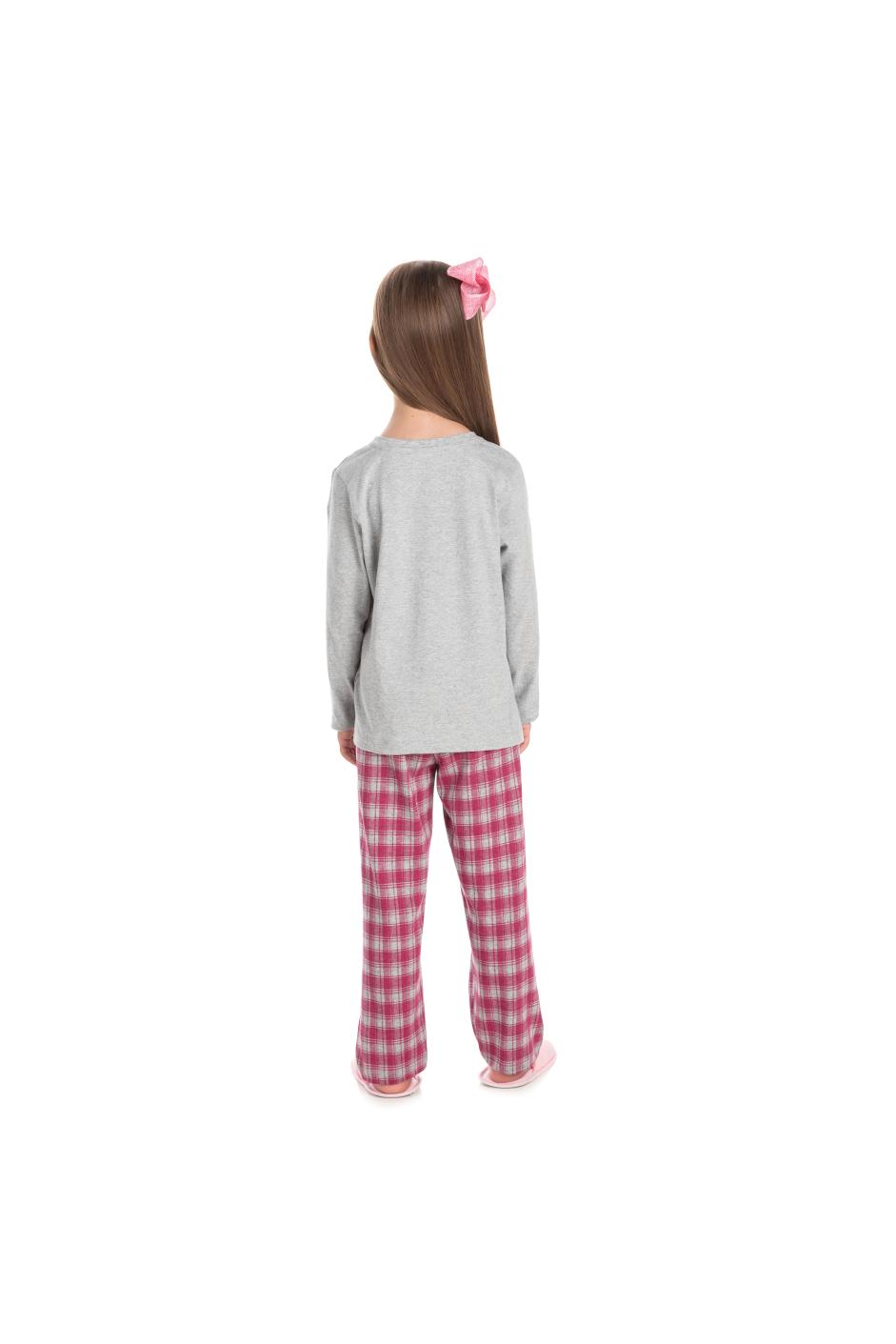190/C - Pijama Infantil Feminino Xadrez Família Completa