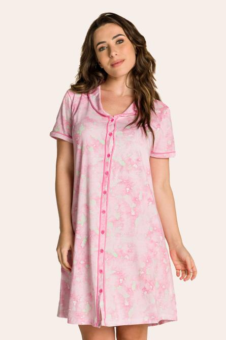 106/D - Camisola Maternidade Tie Dye com Gola e Filetes