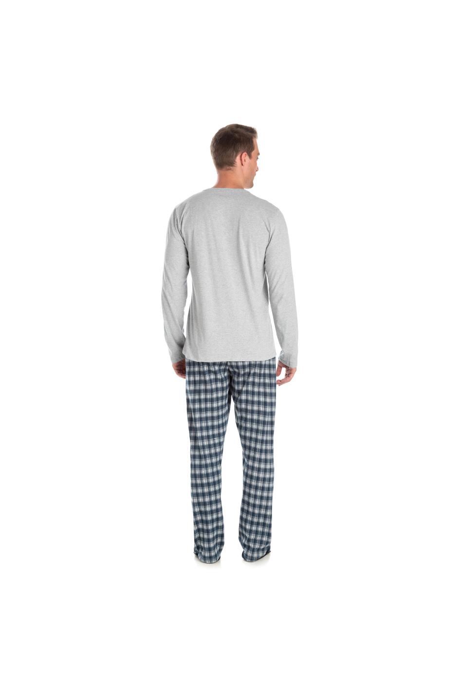 190/D - Pijama Adulto Masculino Xadrez Família Completa