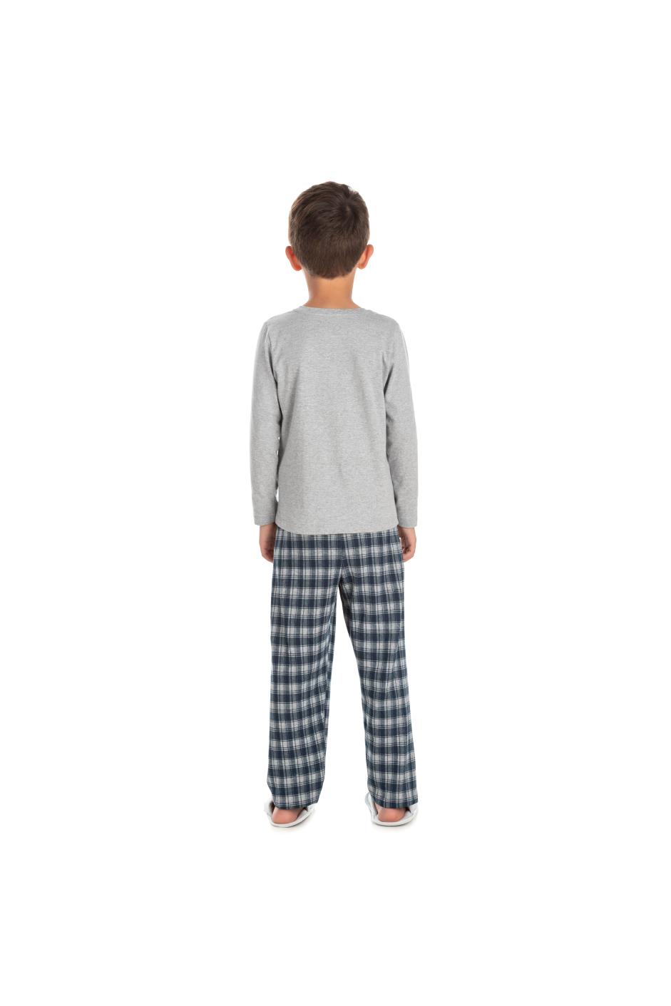 190/F - Pijama Infantil Masculino Xadrez Família Completa