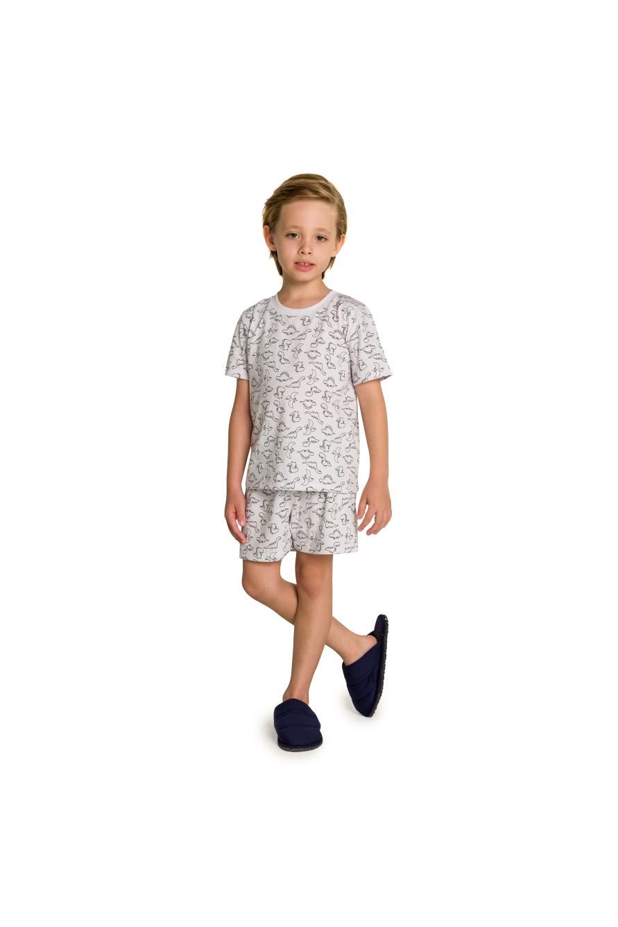 004/B - Pijama Infantil Masculino Dinossauros para Colorir!!!