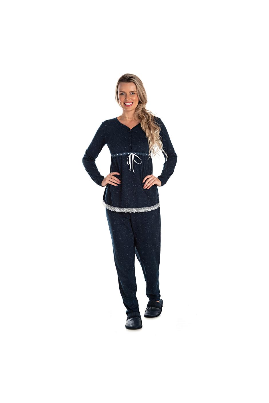 016/E  - Pijama Maternidade Botonê Com Laço