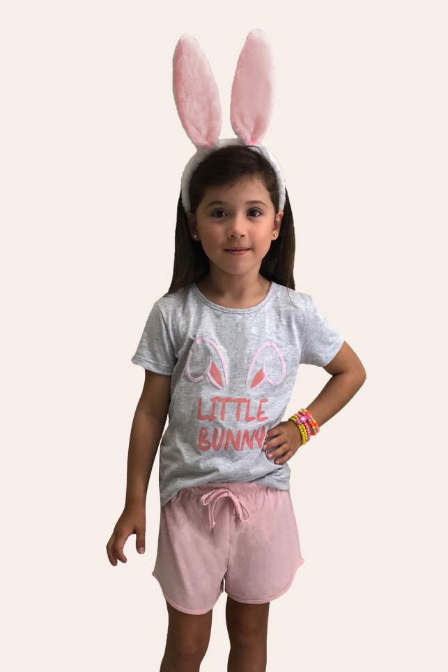 000/C - Pijama De Páscoa Para Família - Infantil Feminino