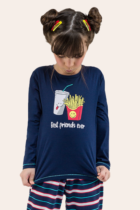 001/C -  Pijama Infantil Feminino Best Friends Ever